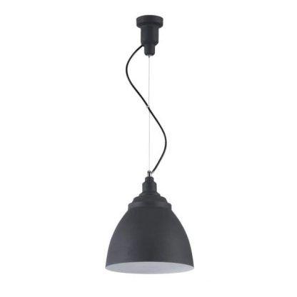 nowoczesna lampa wisząca do jadalni czarny klosz