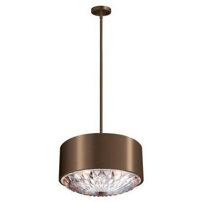 nowoczesna lampa wisząca glamour z kryształowym kloszem