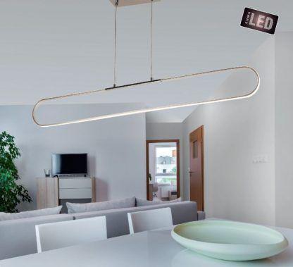nowoczesna lampa wisząca led nad stół aranżacja