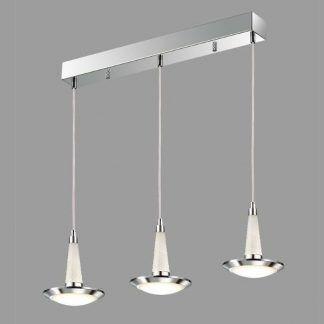 nowoczesna lampa wisząca nad stół srebrna