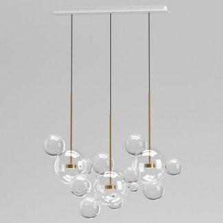 nowoczesna lampa wisząca szklane bańki mydlane