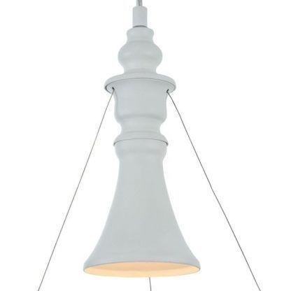 nowoczesna lampa wisząca z ażurowym kloszem