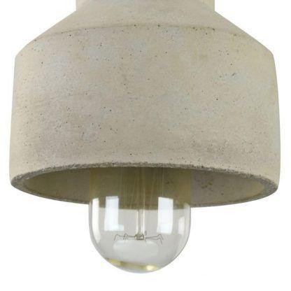 nowoczesna lampa wisząca z betonu do jadalni
