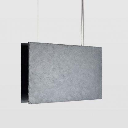 nowoczesna lampa wisząca z kamiennych płyt