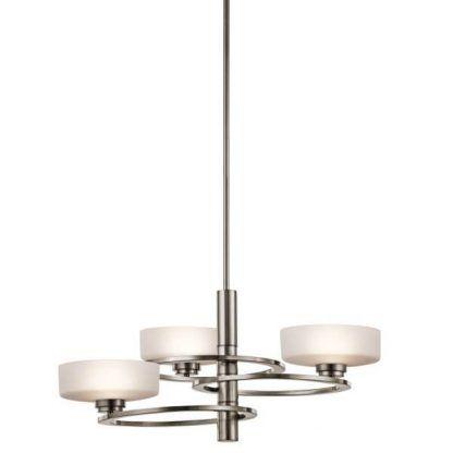nowoczesna lampa wisząca z mlecznymi kloszami
