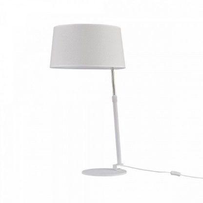 nowoczesna lampa z okrągłym abażurem - stołowo biurkowa