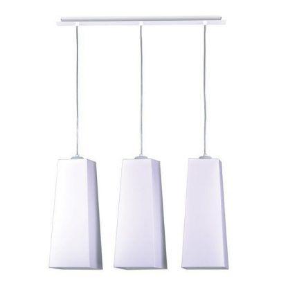 Nowoczesna lampa z podłużnymi abażurami do salonu