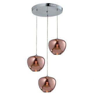 nowoczesna lampa ze szkła różowe złoto