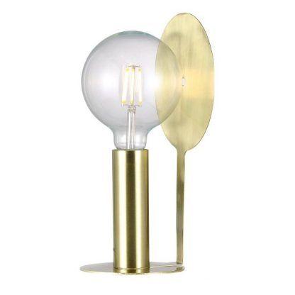 Nowoczesna lampa ze złotym wykończeniem