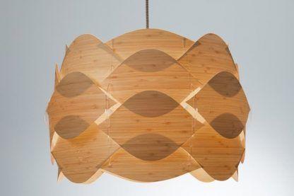 nowoczesna pofalowana lampa wisząca brązowa - naturalna