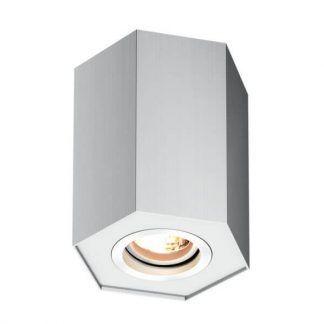 Nowoczesna srebrna lampa sufitowa