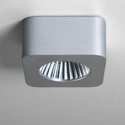 nowoczesne kwadratowe oczko typu spot - srebrne
