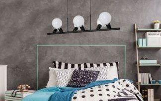 nowoczesne lampy do sypialni beton aranżacja
