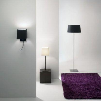 nowoczesne lampy z materiałowymi abażurami