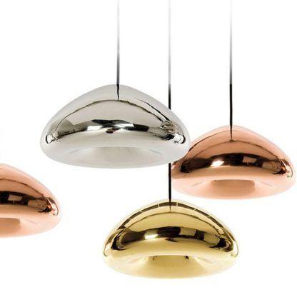 nowoczesne metaliczne lampy wiszące ze szkła