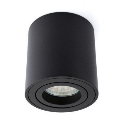 nowoczesne oczko sufitowe jak tuba - czarne nowoczesne