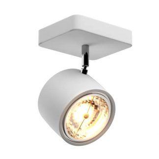 Nowoczesny biały reflektor sufitowy