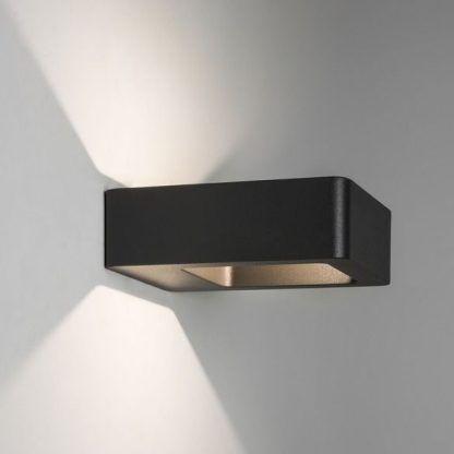 nowoczesny czarny kinkiet na klatkę schodową lub drzwi
