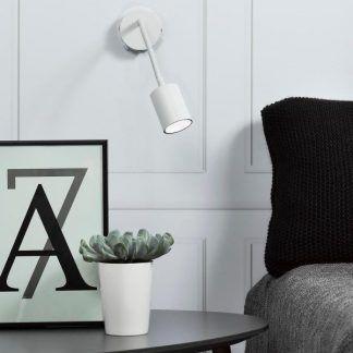 nowoczesny kinkiet do czytania giętki sypialnia aranż