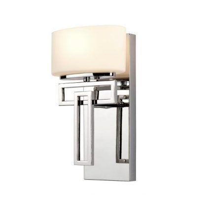 nowoczesny kinkiet do łazienki lub sypialni - chrom i szkło