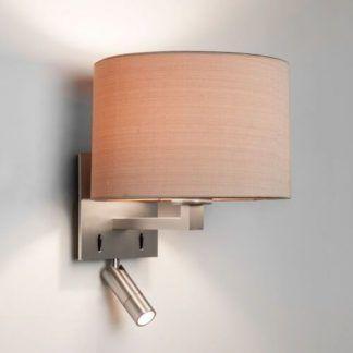 nowoczesny kinkiet do sypialni do czytania srebrny
