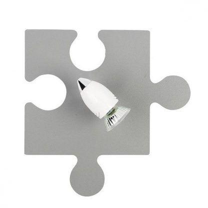 nowoczesny kinkiet w kształcie puzzla szary