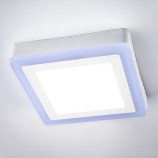 nowoczesny plafon biało niebieski do łazienki