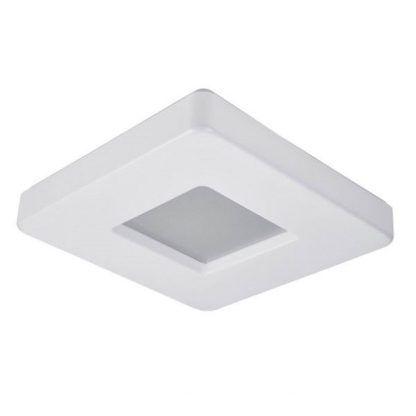 nowoczesny plafon na korytarz - kwadratowy biały led