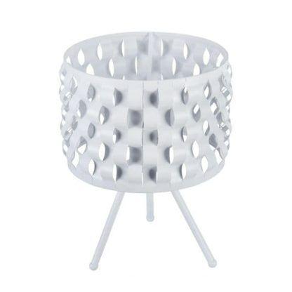 nowoczesny trójnóg stołowy cały biały