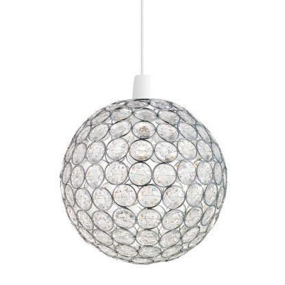 oakley lampa wisząca kula z kryształów