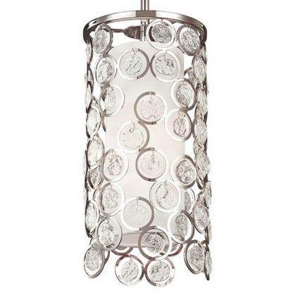 Obudowa lampy wiszącej z okręgów z kryształkami sypialnia
