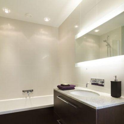 oczka sufitowe do łazienki - aranżacja