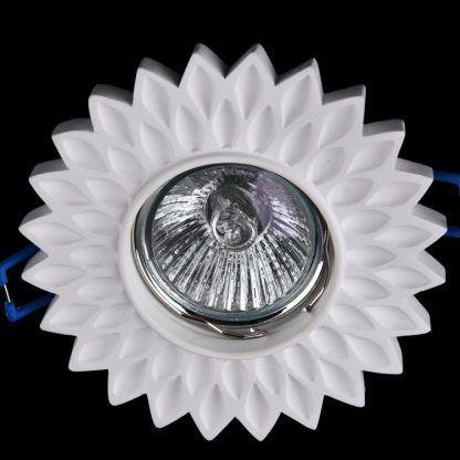 oczko led z gipsu w kształcie kwiatka - halogen