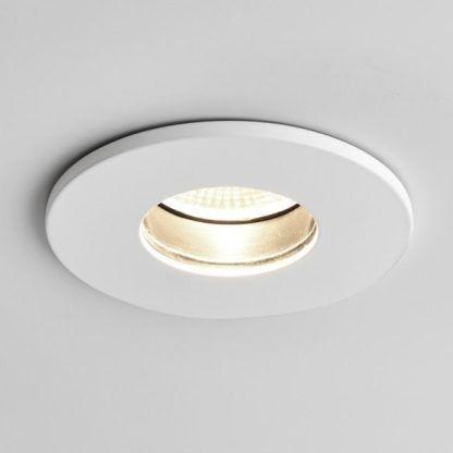 oczko sufitowe łazienkowe białe - nowoczesne