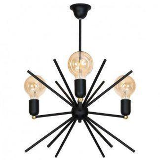 okrągła czarna lampa wisząca sputnik nowoczesna