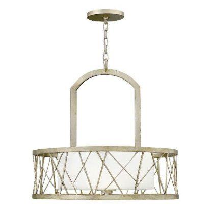 Okrągła lampa wisząca z mlecznym kloszem salon