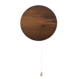 okrągły drewniany kinkiet do przedpokoju