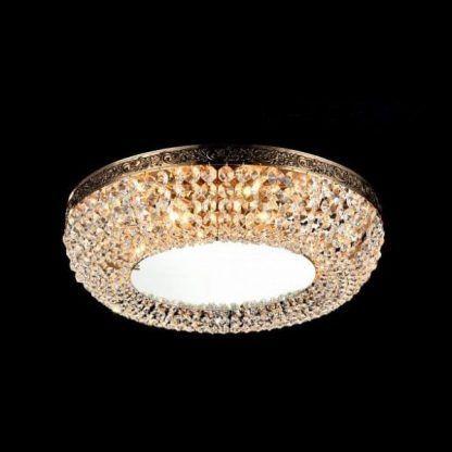 Okrągły plafon z kryształkami do salonu