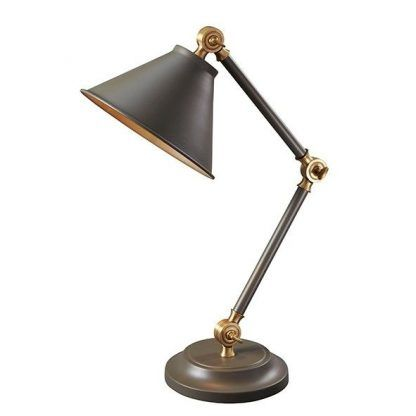 oliwkowa lampa biurkowa do biura lub kancelarii