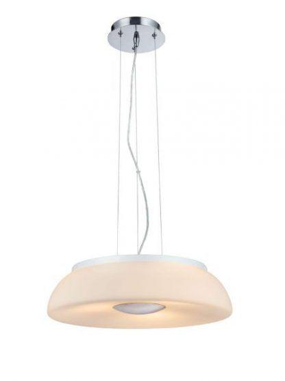 Oryginalna lampa wisząca – mleczne szkło do salonu