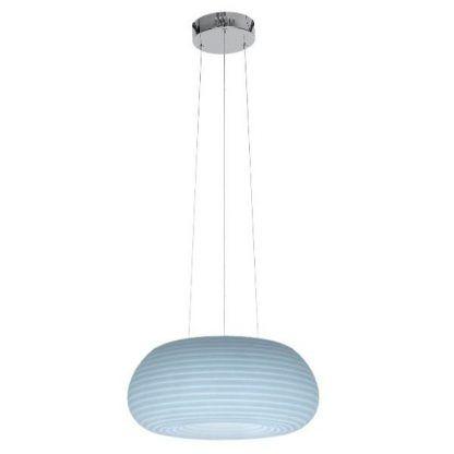 owalna nowoczesna lampa zmieniająca kolory