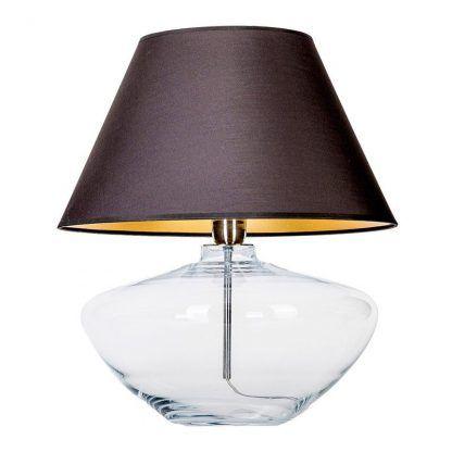 owalna szklana lampa stołowa do sypialni