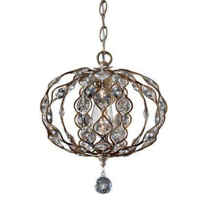 owalny klosz lampy z kryształkami do salonu