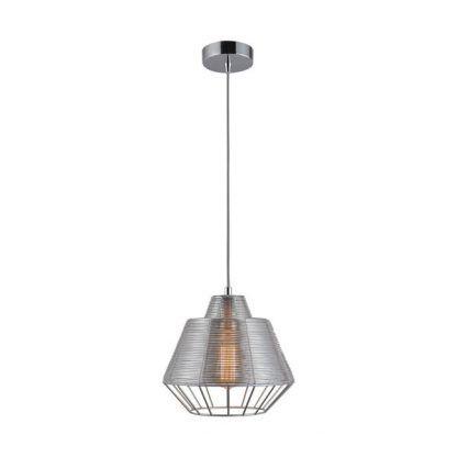 ozdobna i dekoracyjna lampa do nowoczesnej kuchni - srebrna