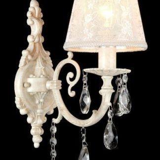 pałacowy kinkiet z kryształkami do sypialni