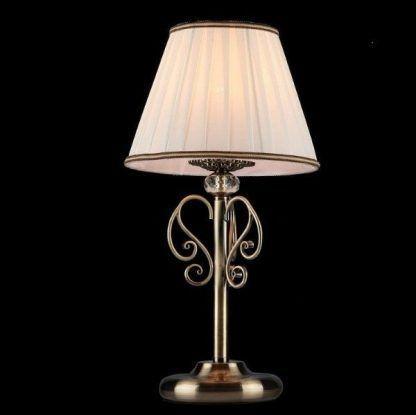 pięknie zdobiona klasyczna lampa z kryształem i abażurem