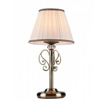 piękny abazur na lampie stołowej + kryształowe oczko