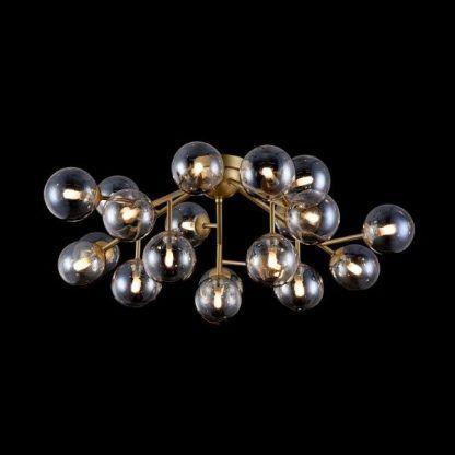 piękny nowoczesny żyrandol z kulami ze szkła - super