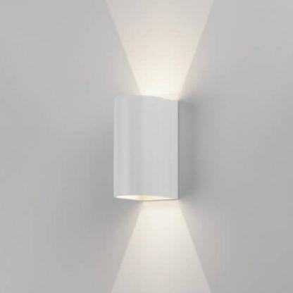 pionowy biały kinkiet dekoracyjne oświetlenie