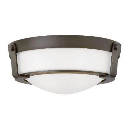 plafon brązowy w stylu hampton z białym szkłem